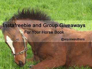 Instafreebie and Group Giveaways for Your Horse Book @equineauthors
