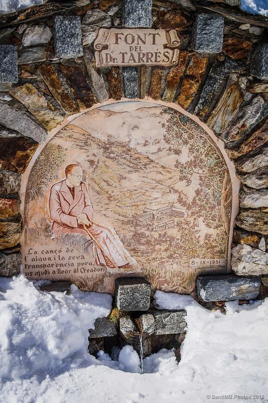 Fuente del Dr. Tarrés tras la ermita de Sant Gil en Núria