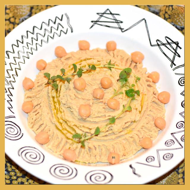 Hummus ... Kichererbsen-Pürée ... veganer Aufstrich, Dip ... Fotos: Brigitte Stolle
