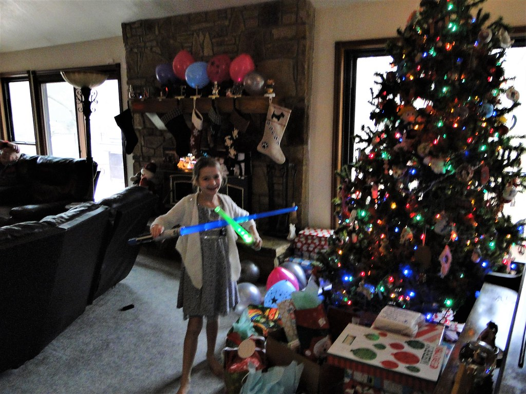 Christmas Day-Kaelyn with her Star Wars sword | Cyndi and Dave | Flickr