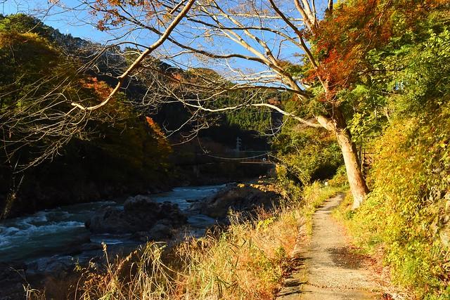 御岳渓谷の歩道