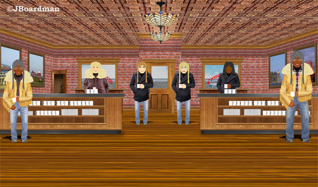 Chris ran into Susan & Co at Silverthorn's Café ©JBoardman