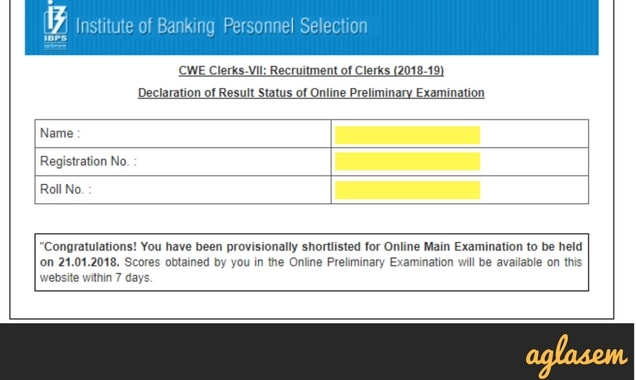 IBPS Clerk (7) Mains Result 2018 announced on 1 April 2018   Check here