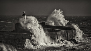 Storm Eleanor - Newhaven Black and White | by Nimbus20
