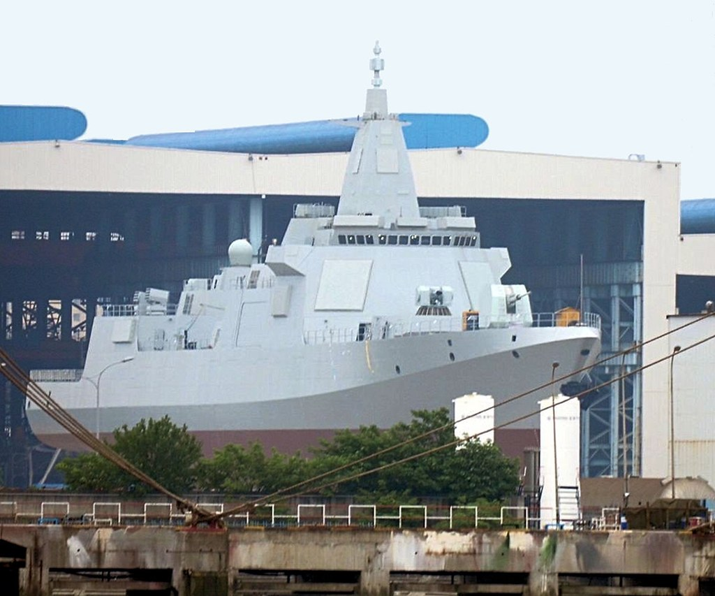 Launch of 1st Chinese Type 055 Large Destroyer (Crusier)