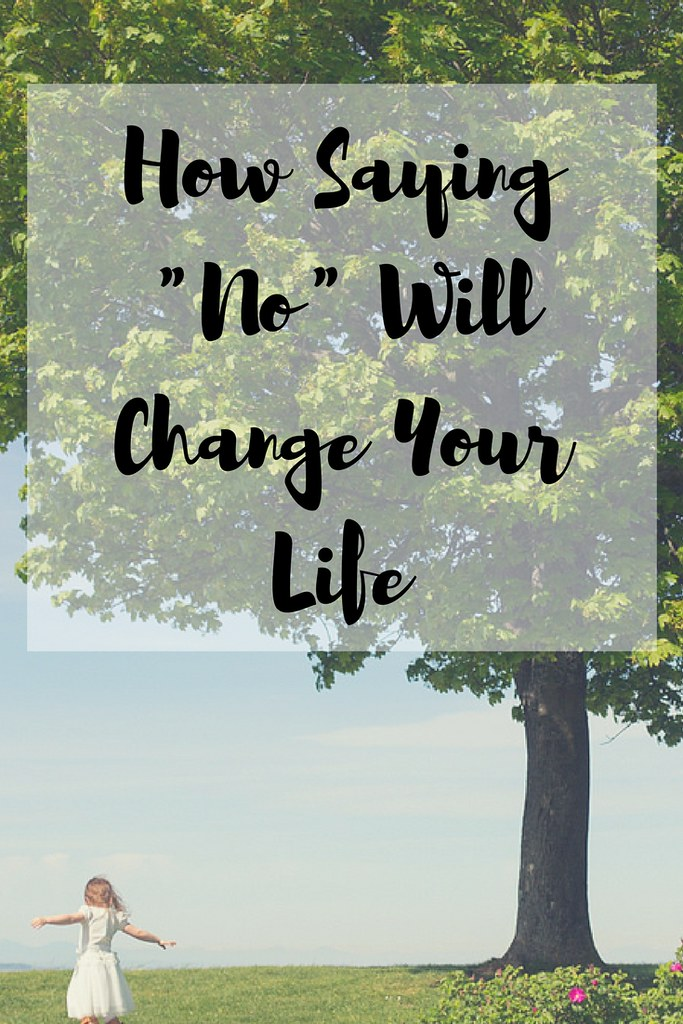 "One word can change your life. Are you ready to start saying ""no""?"