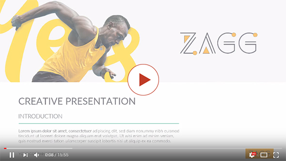 Zagg Annual Report 2017 Powerpoint Template - 1