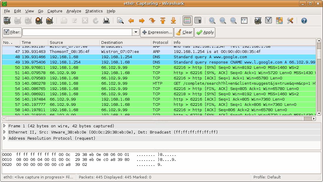 Wireshark-ejemplo
