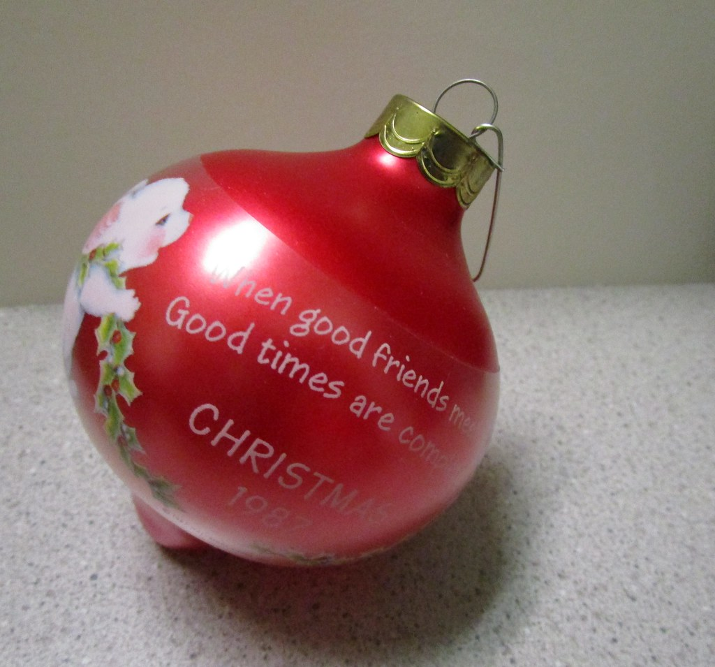 1987 Hallmark Keepsake Glass Christmas Ornament, Xmas Mice… | Flickr