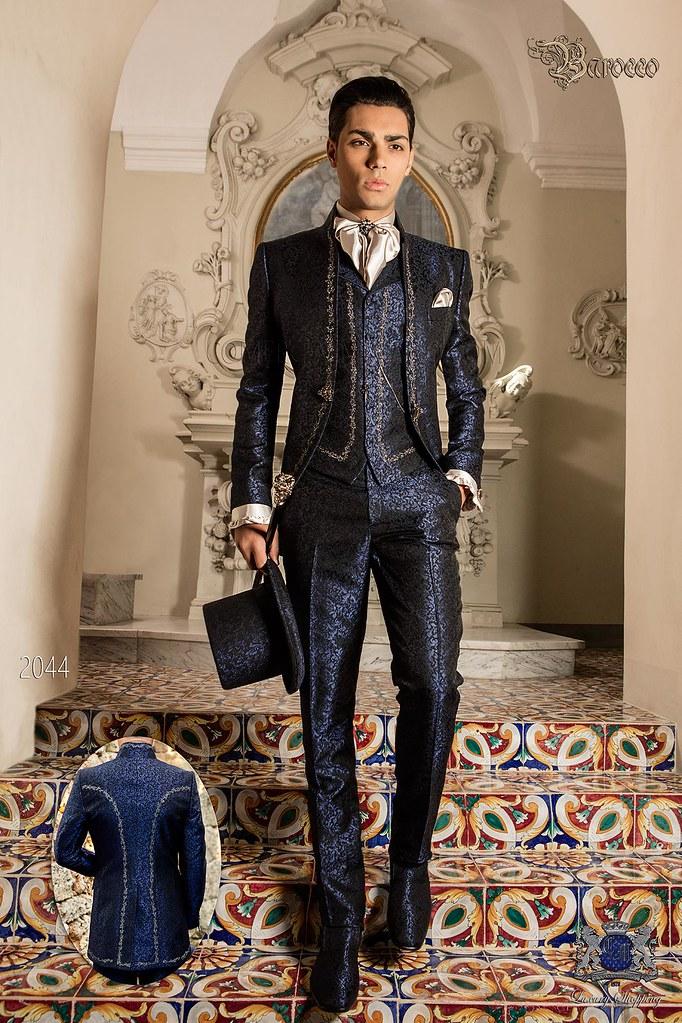 Barocker Brautigam Anzug Vintage Mao Kragen Gehrock In Bl Flickr