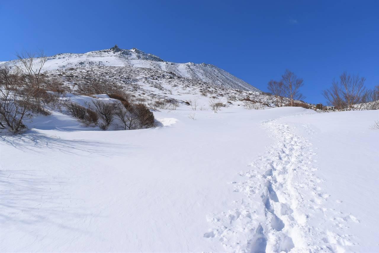 冬の那須岳(茶臼岳)
