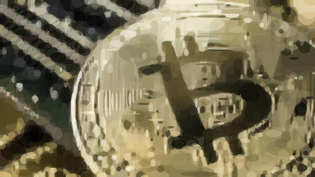 Высокохудожественное изображение BitCoin