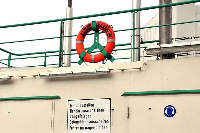 Rheinfähre von Altrip nach Mannheim-Rheinau ... Brigitte Stolle