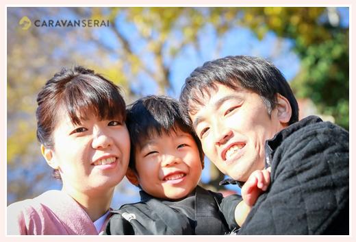 女性出張カメラマンが撮る七五三写真 | ママもお着物❤ | 深川神社&窯垣の小径(愛知県瀬戸市)でロケーション撮影