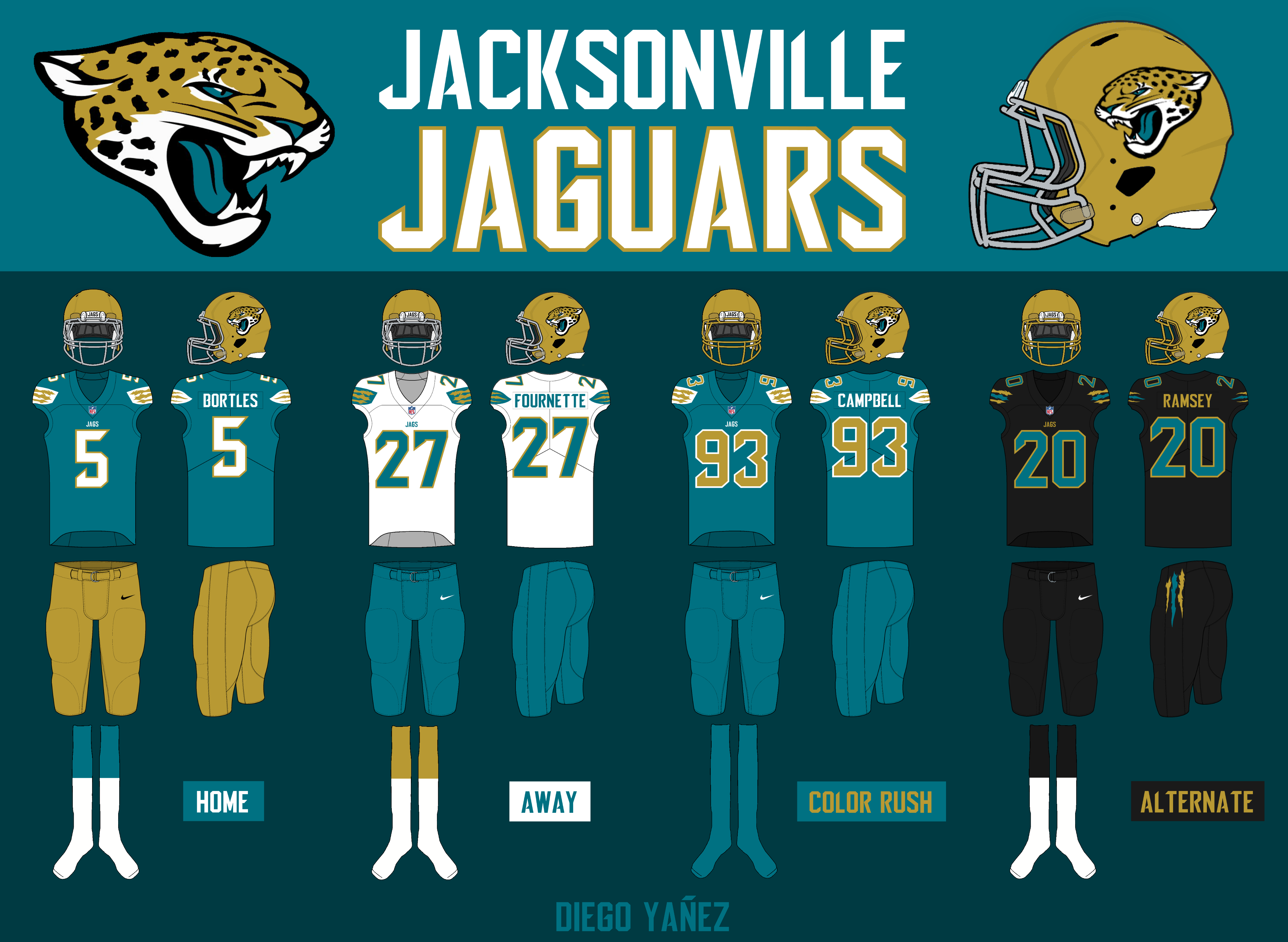 finest selection 1f019 e0cbb The Jaguars' uni makeover awards revealed - Sports Fan 100.5