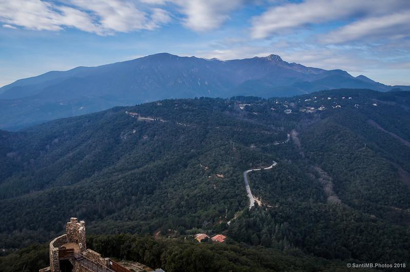 Vistas al Oeste desde la Torre del Homenaje del Castell de Montsoriu