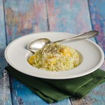 Spitzkohl-Risotto mit Orangenfilets