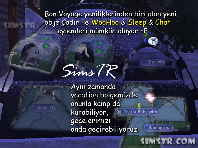 The Sims 2 Bon Voyage Tent Çadır