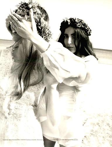 White Sposa Redazionale Vintage Abbigliamento Camicia Culotte