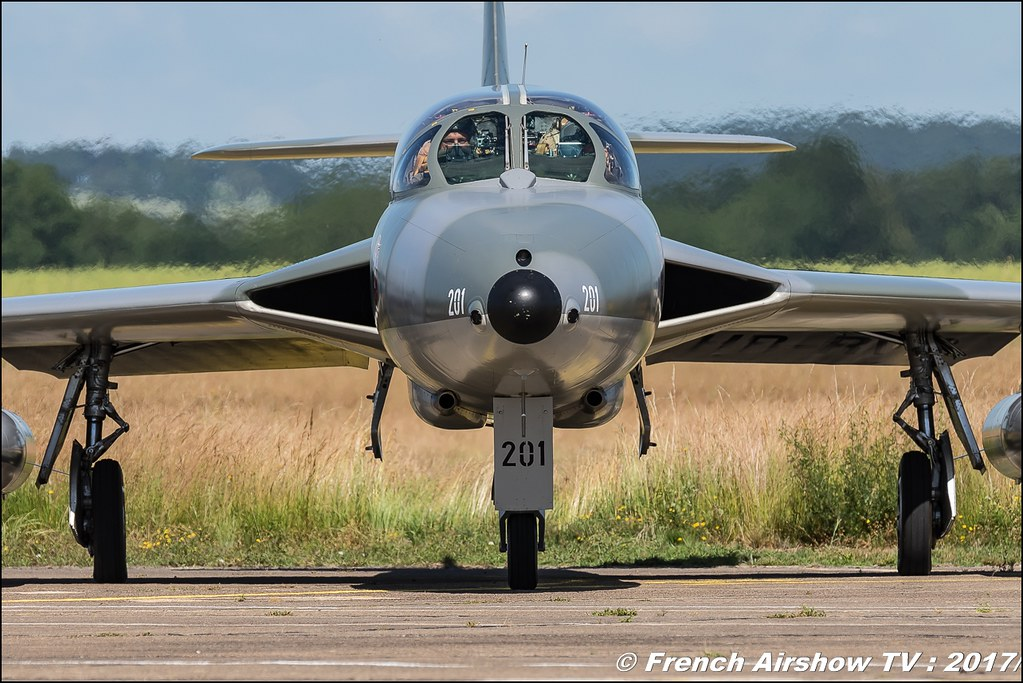 AmiciDellHunter , Hunter T.68 - J-4201 - HB-RVR , Fly in LFBK 2017 , Fly-in Saint-Yan 2017 , Meeting Aerien 2017