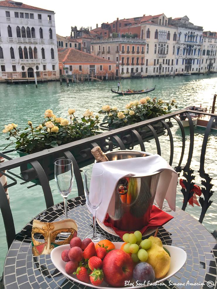 E olha só a vista da varanda do Hotel Palazzo Barbarigo