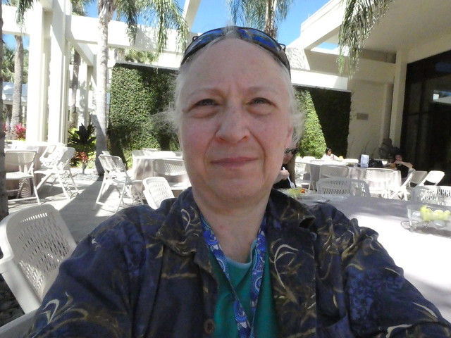 I sit outside the Hyatt Regency Grand Cypress resort in Orlando, location of the ASCO Survivorship Symposium