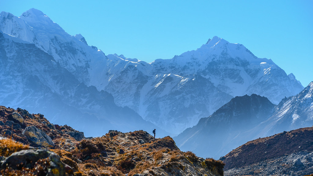 In Awe Below The Sarphu Mountains In Nepal By Carsten Nebel Www Myhimalayas