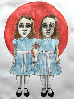6 - The Grady Twins - The Shining - Art Journal Illustration | by Pict Ink