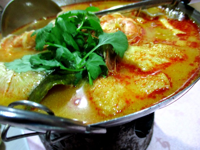 Flavours Thai Kitchen creamy seafood tom yam
