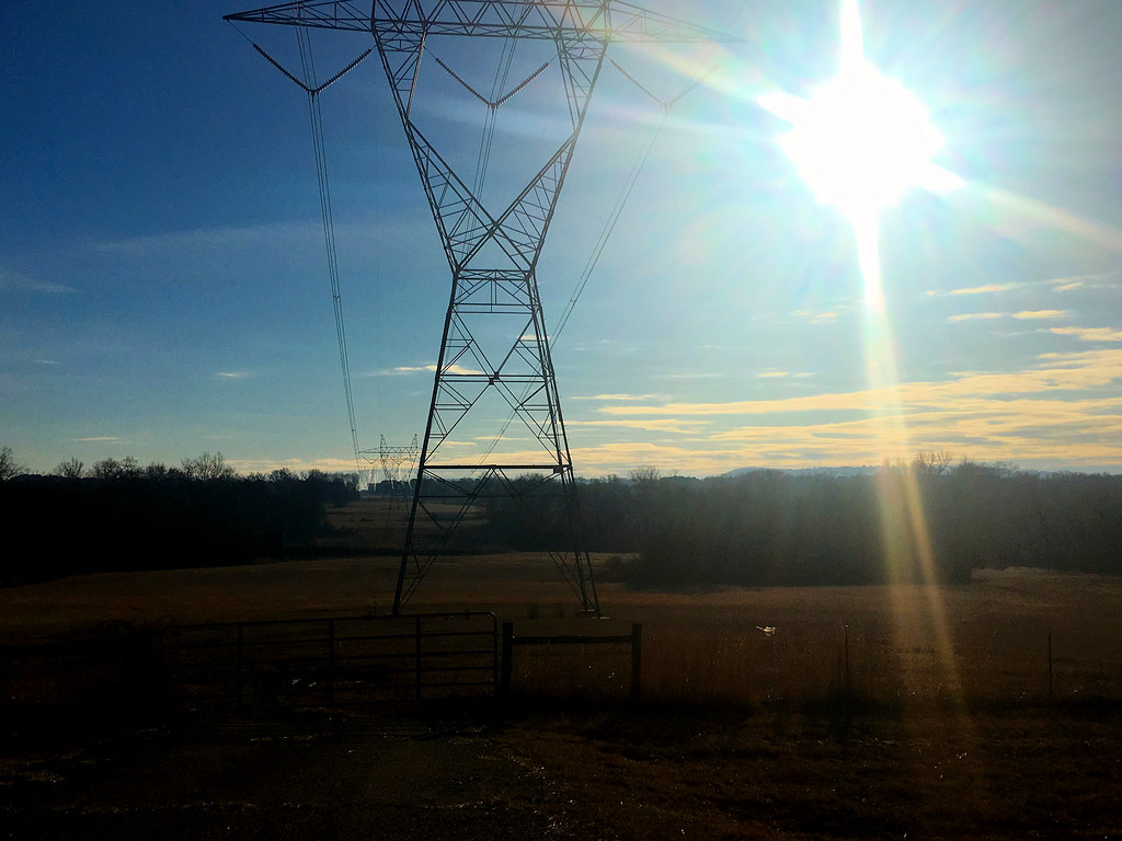 Today's photo: Power lines – 500Kv ANO to Pleasant Hill transmission line, January 19, 2018 (Apple iPhone 6s)
