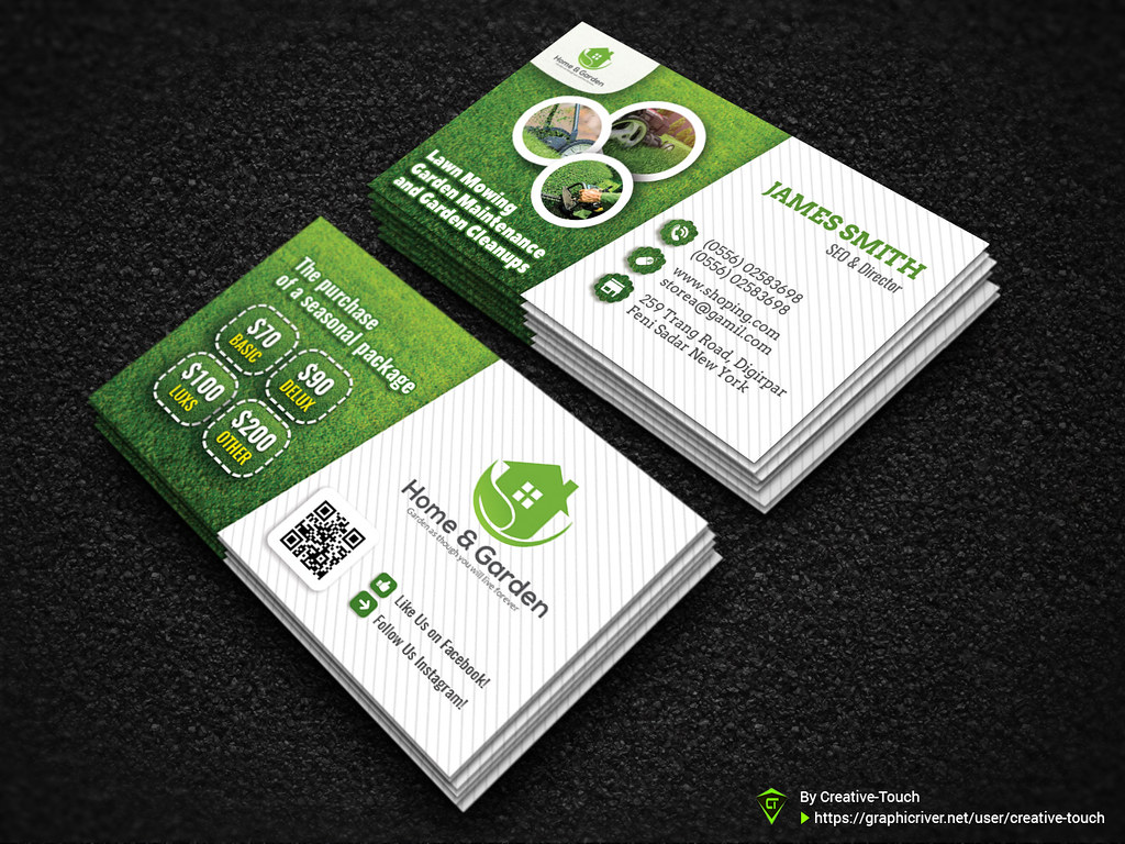 Garden landscape business card template download here gr flickr garden landscape business card template by nurulabser accmission Images