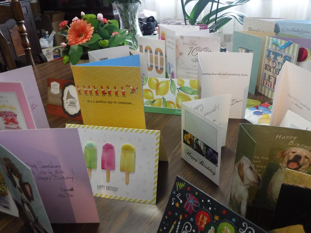 Just A Few Of Ervins 100th Birthday Cards Dscf0978 Flickr