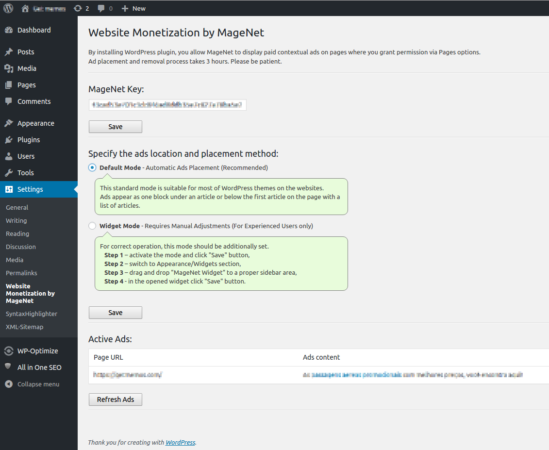 Website Monetization by MageNet is a rapid monetization of the site