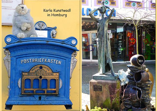 Februar 2018_Karla Kunstwadl in Homburg (Saarland) ... Historischer Briefkasten_Kunst im öffentlichen Raum ... Fotos: Margit H