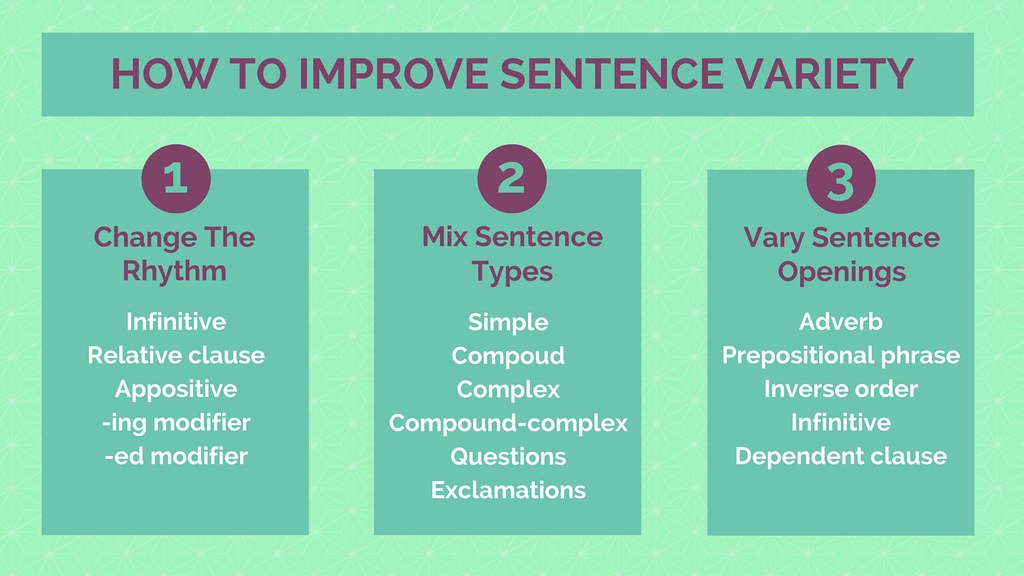 How to Improve Sentence Variety in Your Essays