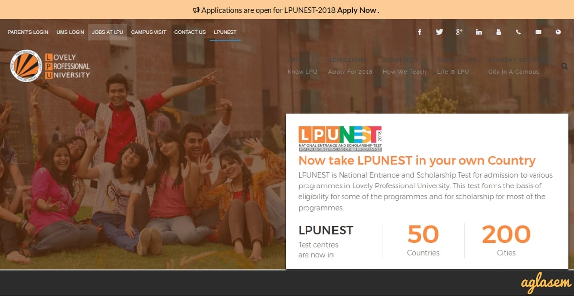 LPUNEST 2018 Slot Booking Starts Today, Exam From April 10