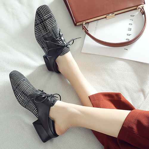 autumn Chiko Etaina Plaid Block Heel...