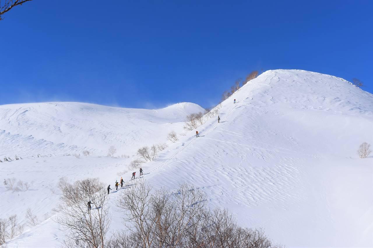 北アルプス唐松岳 日帰り雪山登山