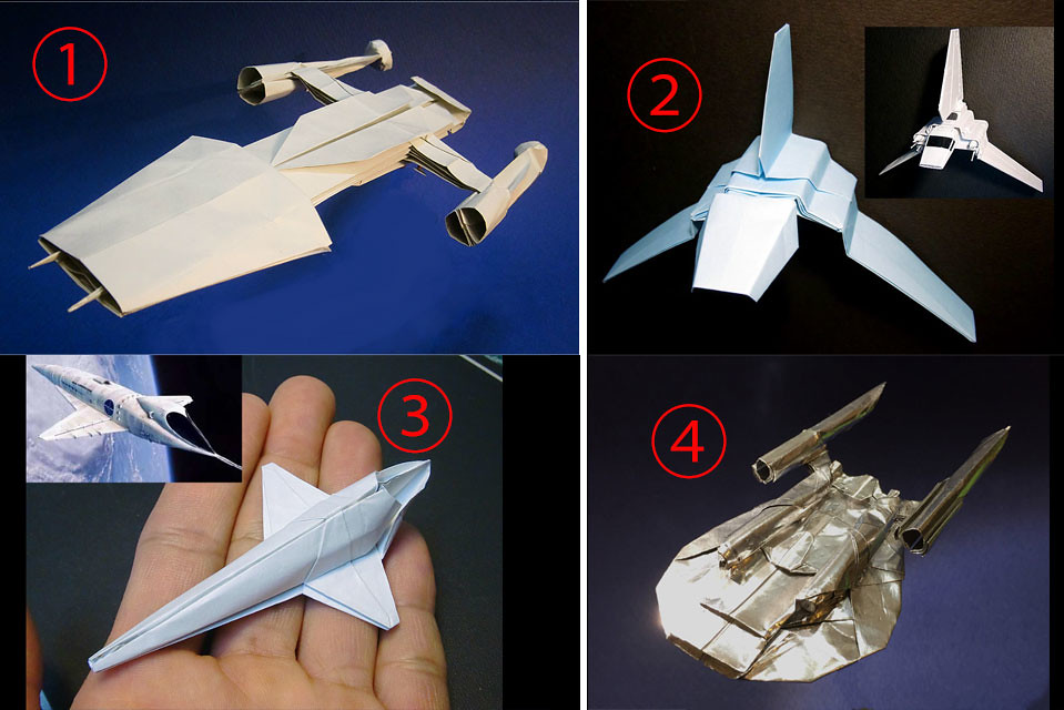By Matayado Which Origami Spaceship Do You Want For My Next Diagram