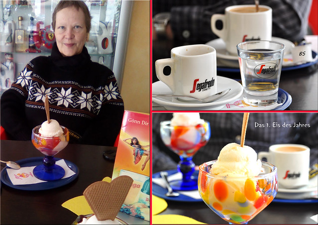 Das 1. Eis des Jahres 2018 in Neckarhausen ... Brigitte Stolle