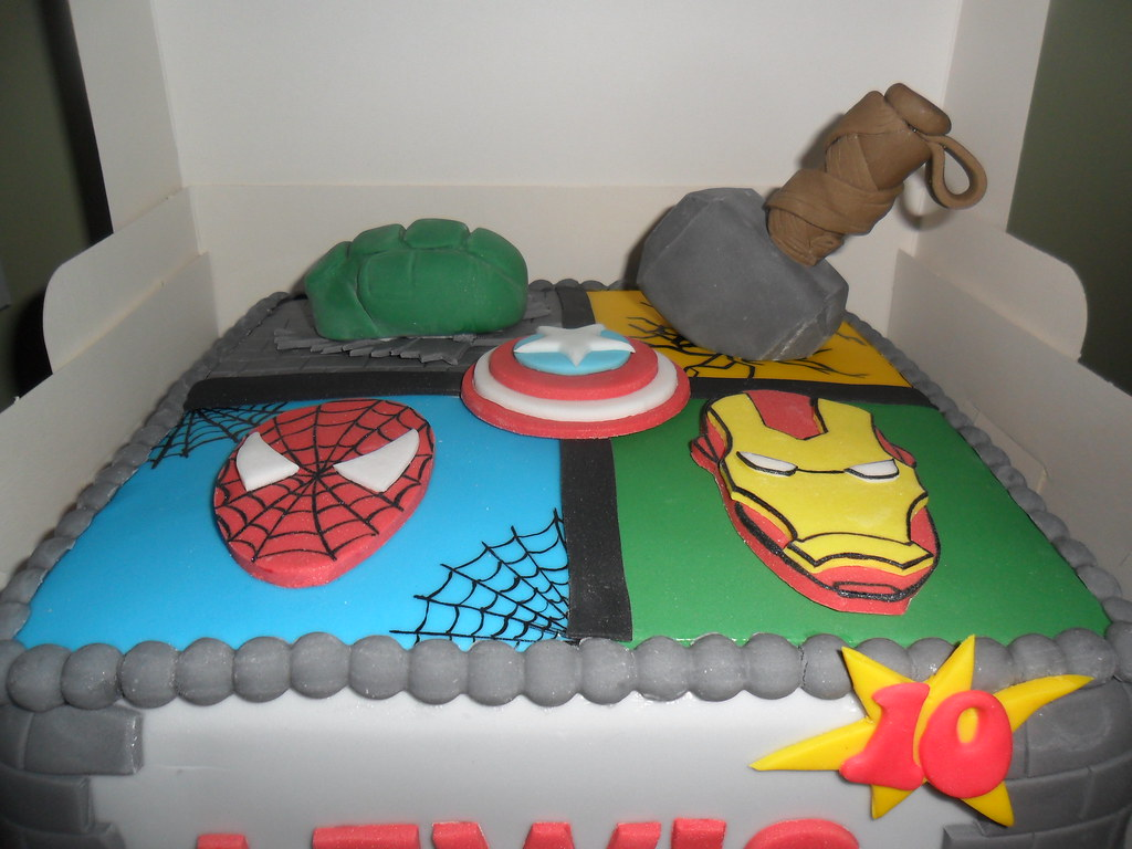 thor spiderman iron man huld marvel birthday cake elizabeth Flickr