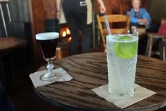 Irish Coffee & Gin Rickey.