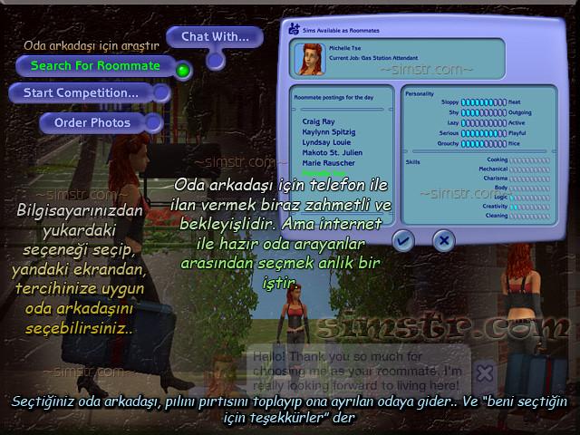 The Sims 2 Apartment Life Apartman Hayatı Telephone Search for Roommate Oda Arkadaşı Ara