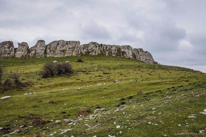 Pared de roca junto a la Senda del Pastoreo
