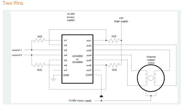28byj 48 Uln2003 2 Wire Circuit Diagram Conan Lloyd Flickr