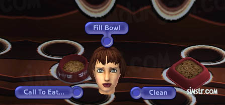 The Sims 2 Pets Fill Bowl Clean Call to Eat