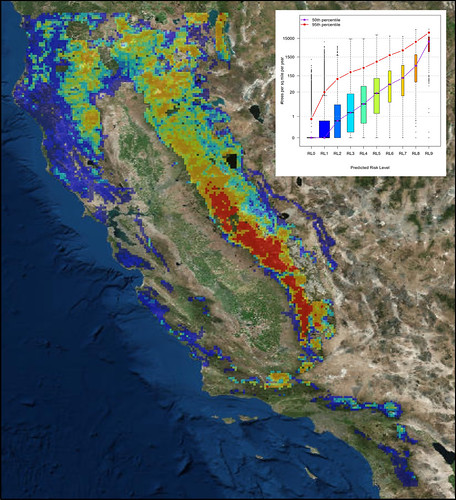 A forecast based on the history of drought and bark beetle attacks map