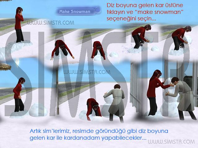 The Sims 2 Seasons Snowman Kardan Adam