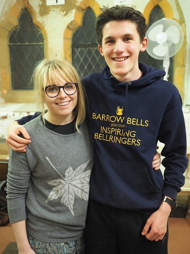 Cameron and Phoebe pleased at quarter peal success
