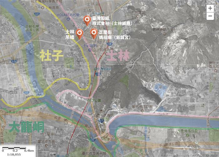 12_將今日地圖與往日地圖套疊,可以看出河神過往存在城市中的痕跡。(圖片來源:人禾)